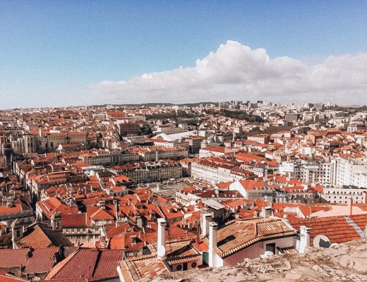 View of Lisbon houses from above