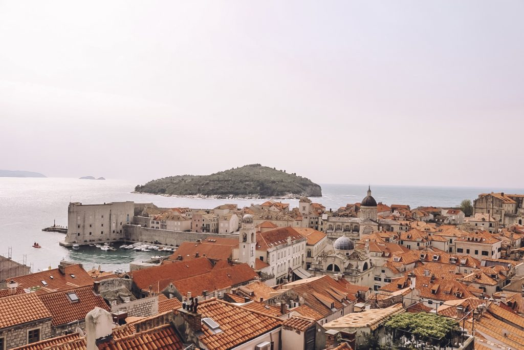 View from the city walls Dubrovnik