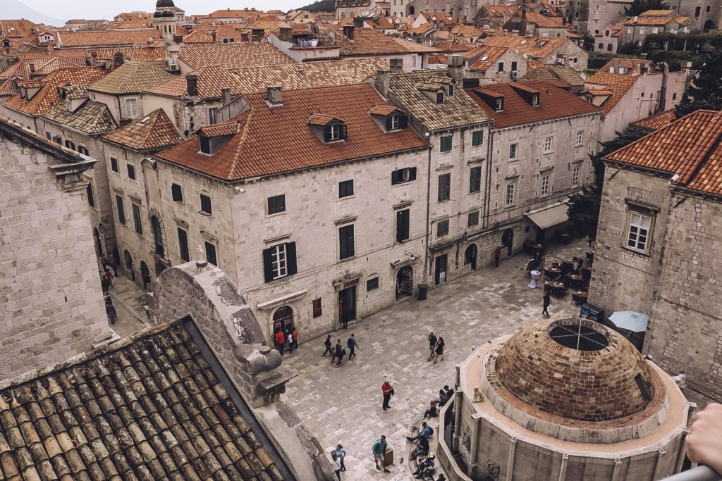 main street Dubrovnik from the city walls