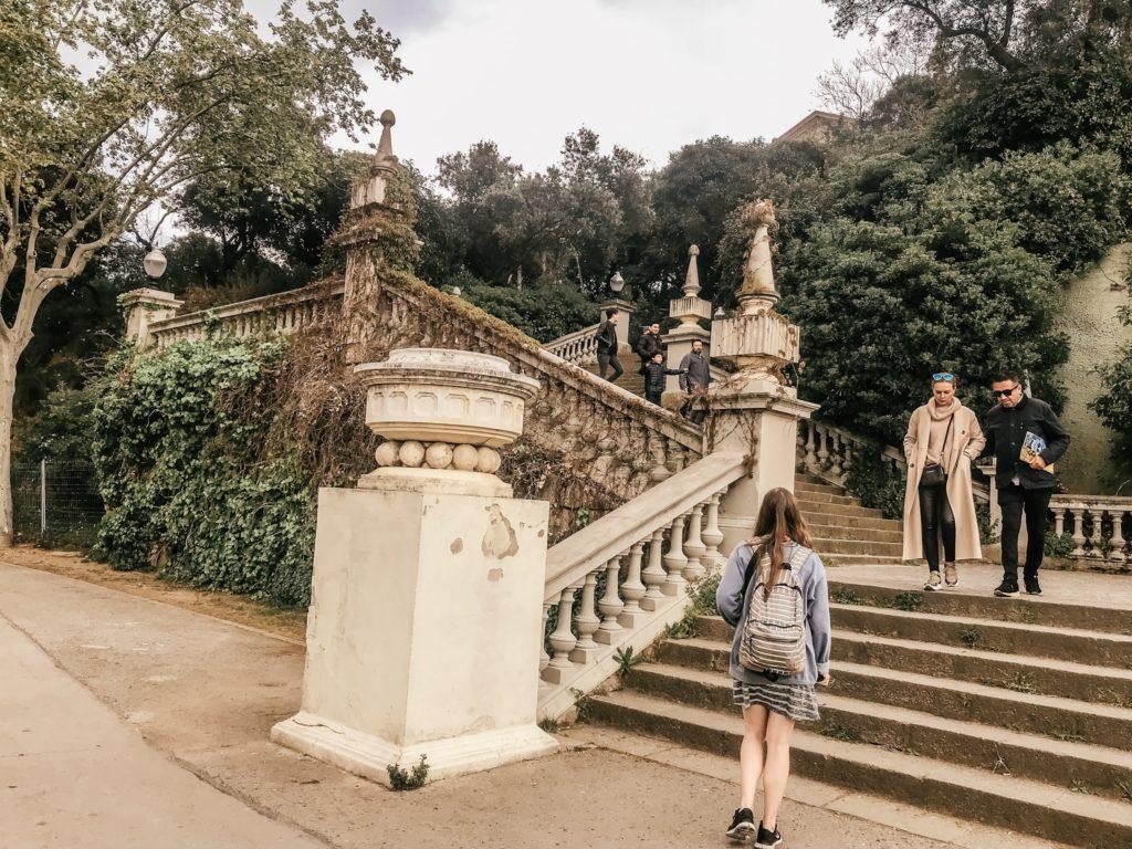 Stairway to Catalunya Museum in Barcelona