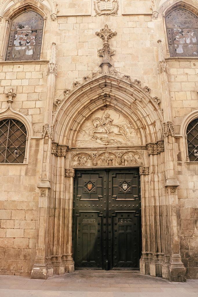 Church door Barcelona