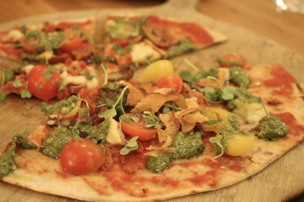 Vegan pizza from Green Spot Barcelona