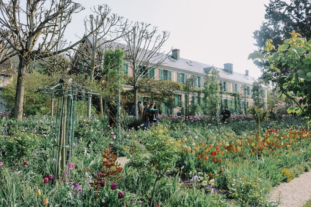 view of Giverny Monet's house and gardens