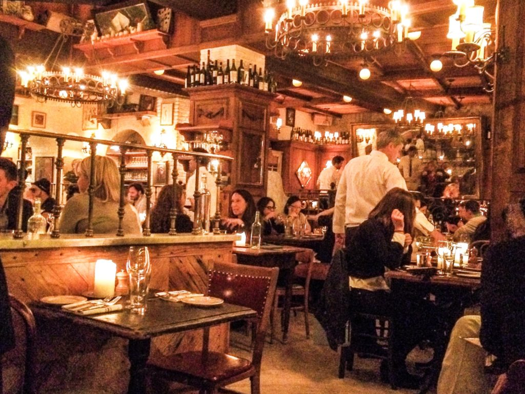 Interior of Gemma restaurant NYC