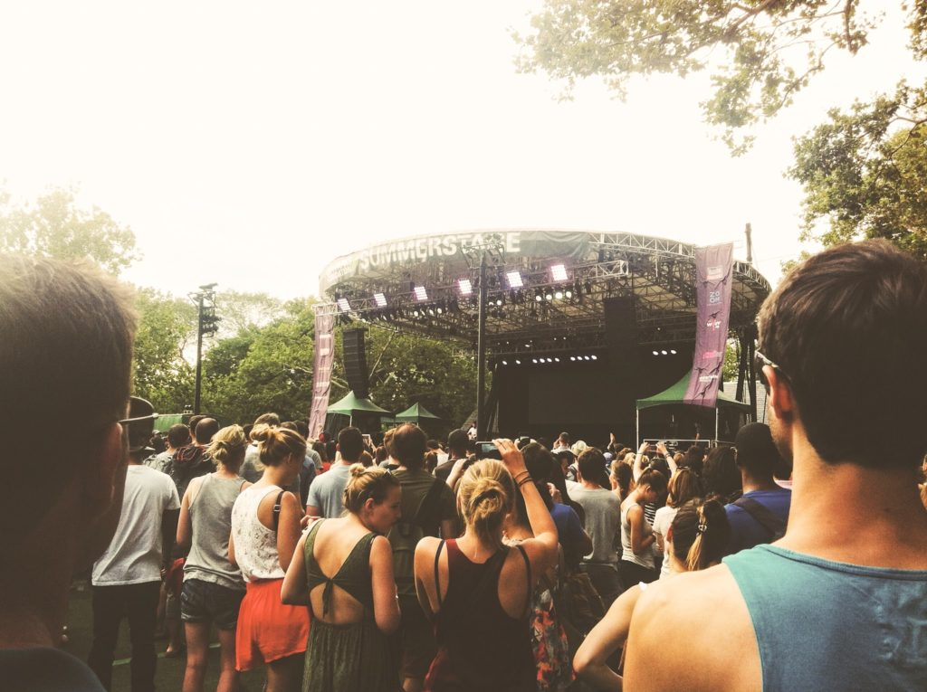 outdoor concert at Central Park NYC