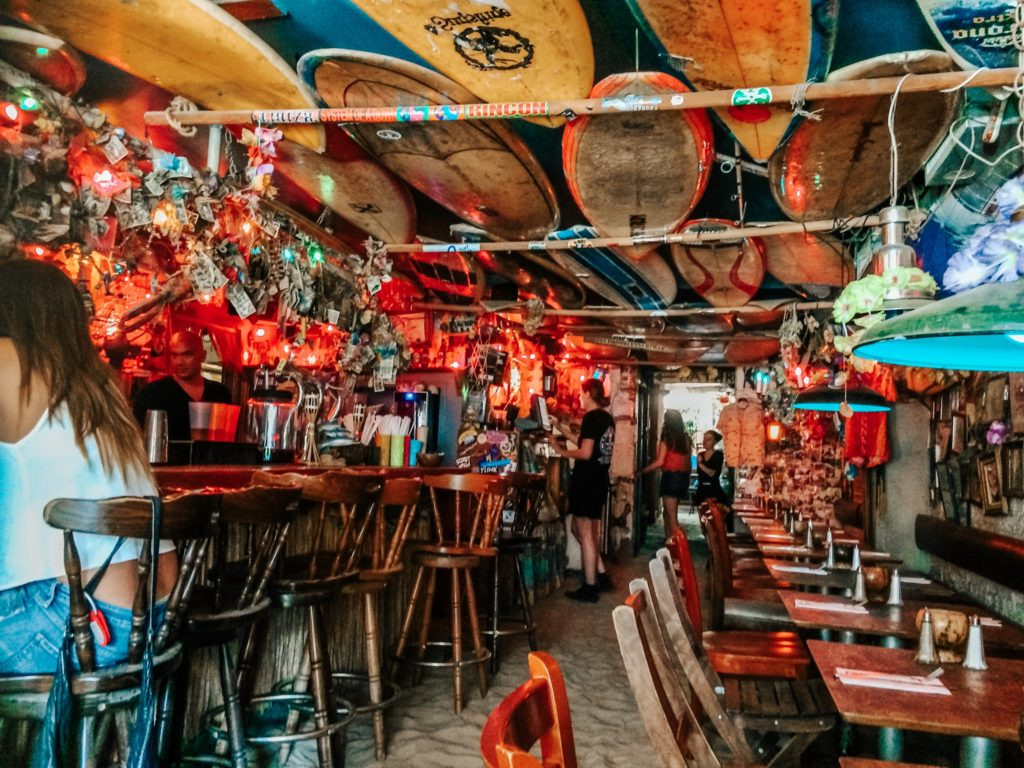 Surf bar with sand floor in NYC
