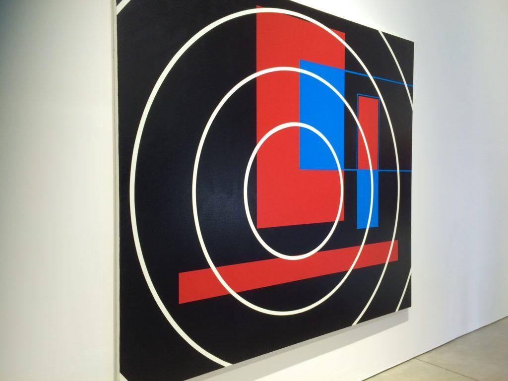 Geometric artwork in gallery in NYC