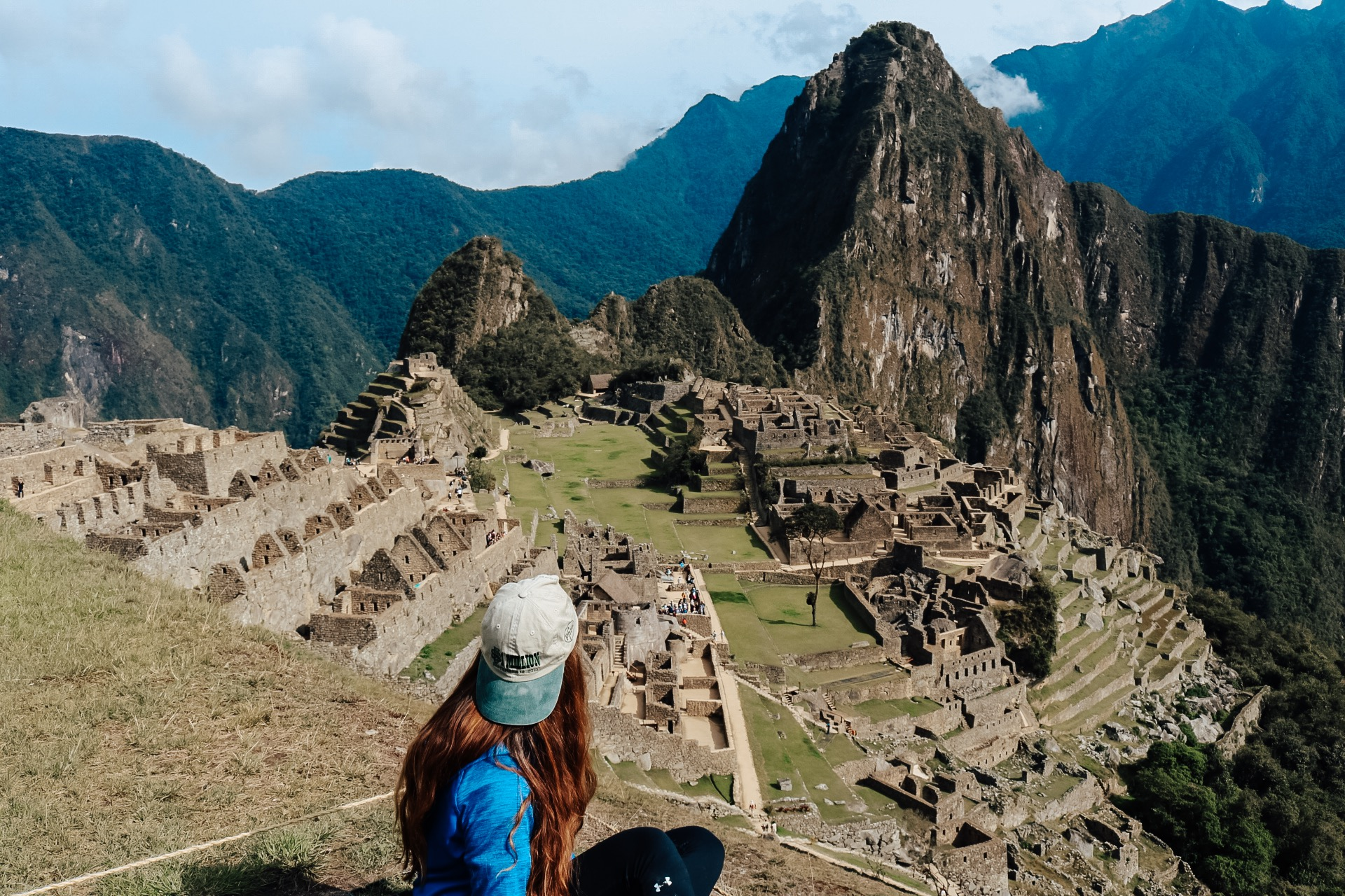 girl in front of Machu Picchu on the Inca Trail in Peru